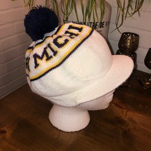 Vintage Michigan Knit Cap With Pom